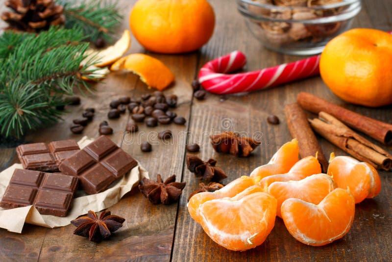 新年结构的甜点 库存图片