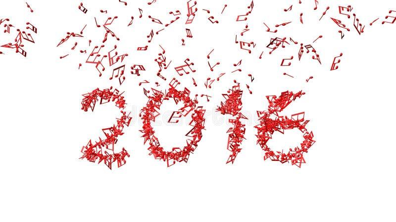 新年2016由笔记做了 库存照片