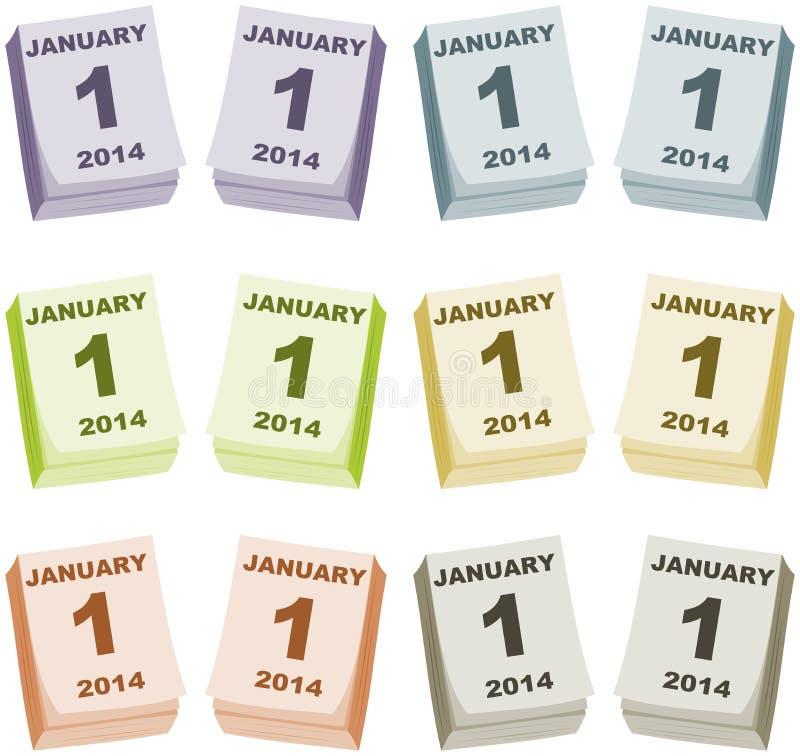 新年的第一天 向量例证