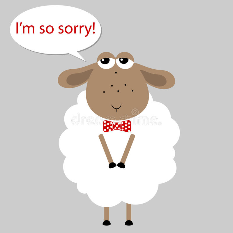 新年的绵羊,要求饶恕 库存例证