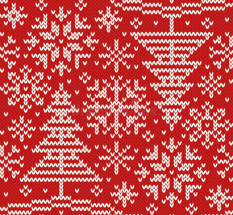 新年被编织的北无缝的样式 皇族释放例证