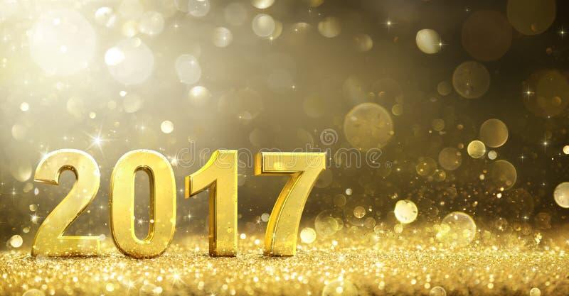 2017 - 新年装饰 向量例证