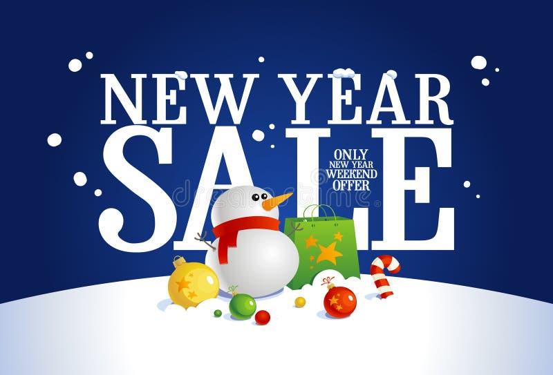 新年销售横幅。 向量例证