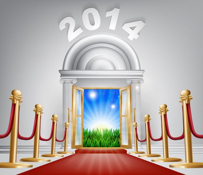 新年门2014年 向量例证