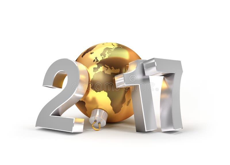2017新年问候标志 皇族释放例证