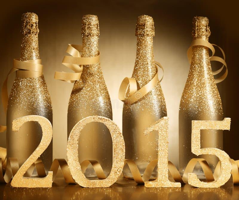 2015新年香槟背景庆祝 库存图片