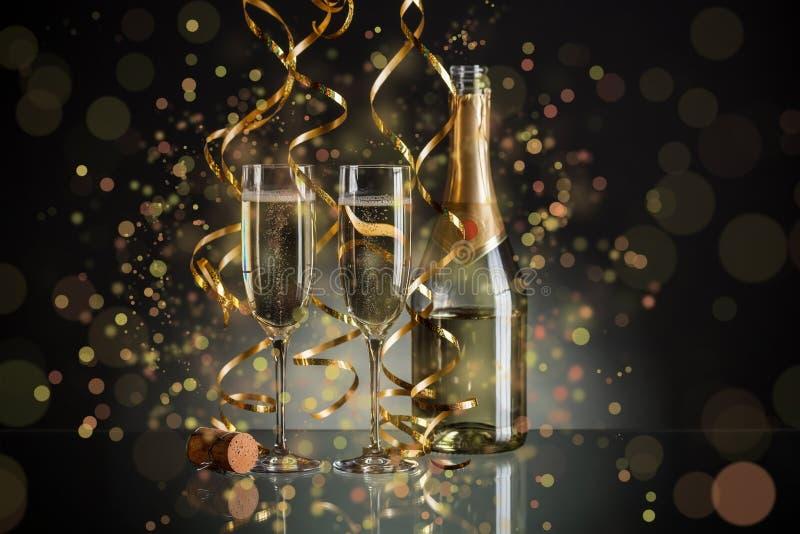 新年香槟 库存照片