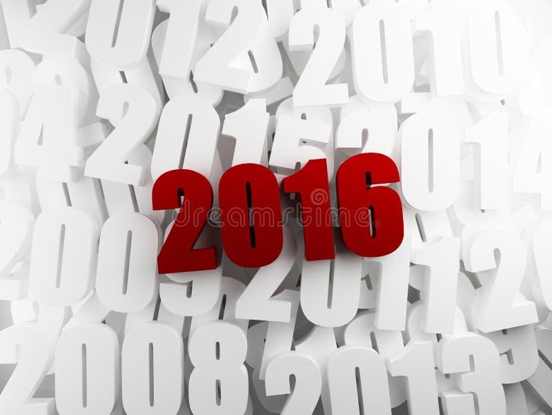 新年2016年 库存例证
