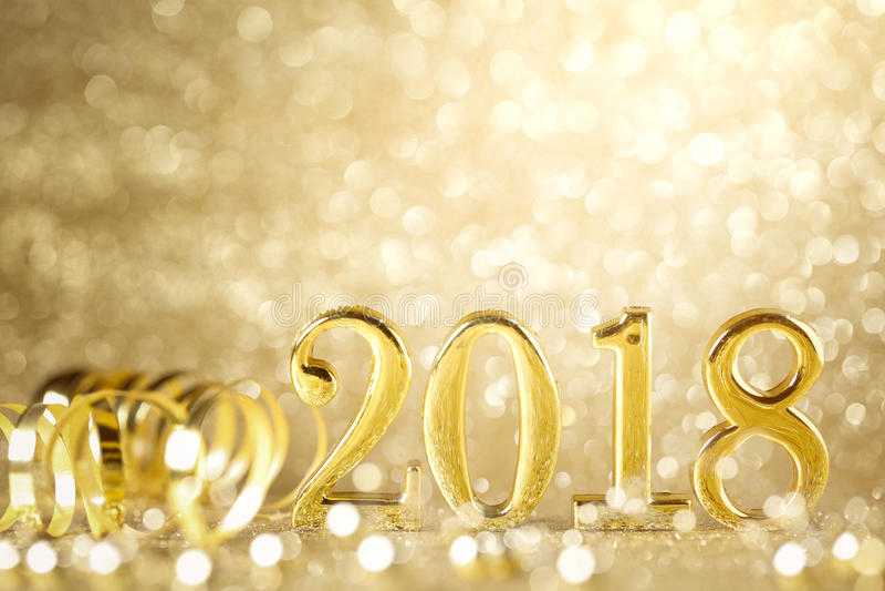 新年2018年 库存图片