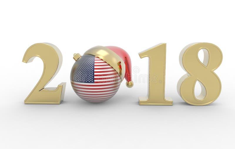 新年2018年 向量例证