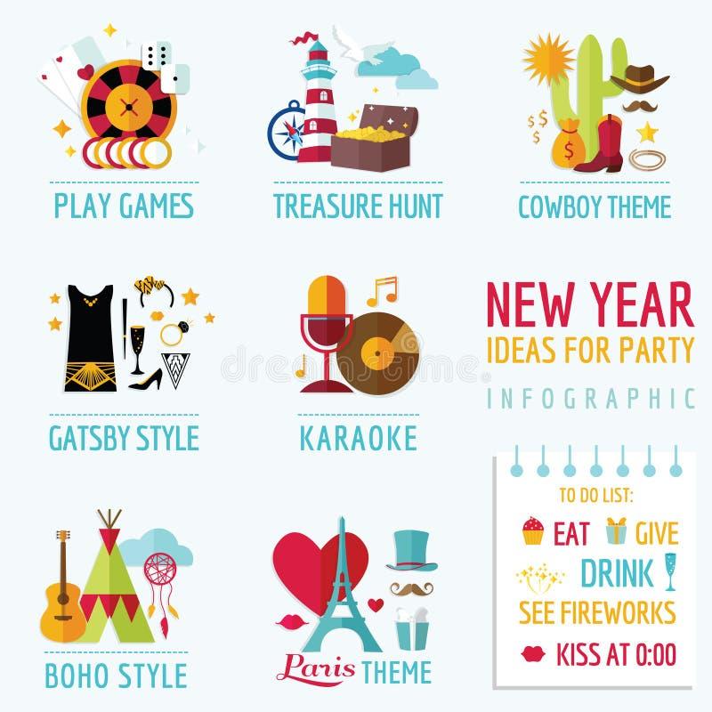 新年Infographic 库存例证