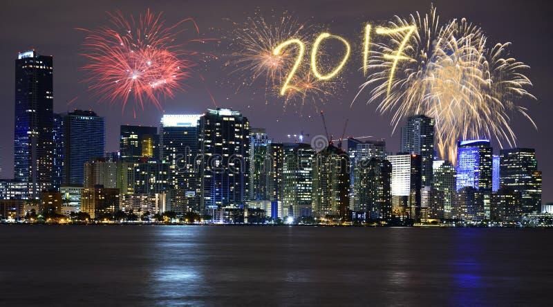 新年` s伊芙在迈阿密 免版税库存图片