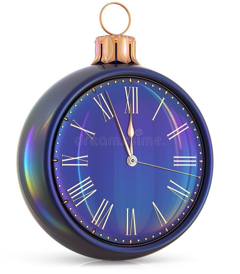 新年` s伊芙时钟午夜前小时读秒压力 皇族释放例证