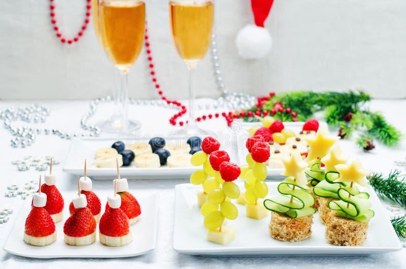 新年` s快餐的分类 免版税图库摄影