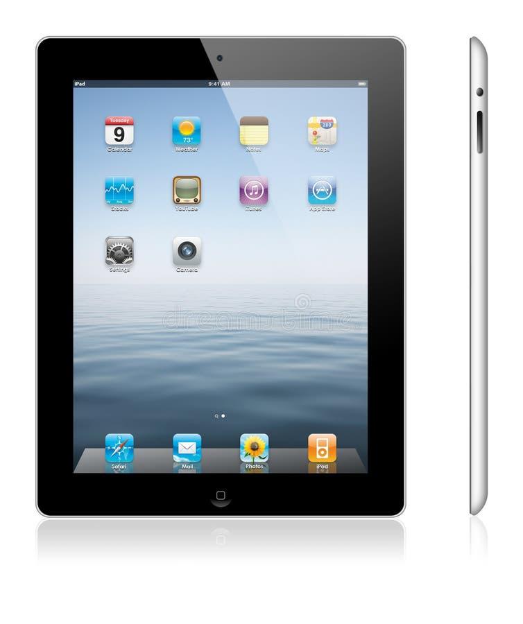 新3个苹果的ipad 皇族释放例证