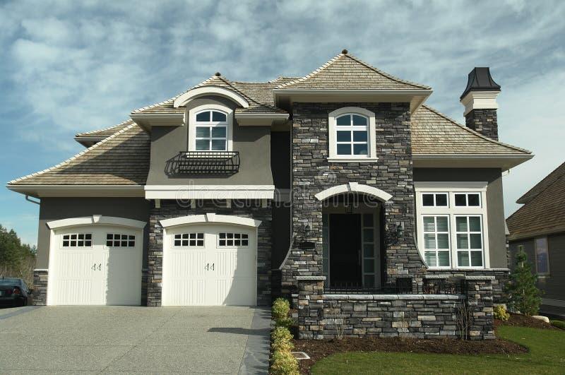 新BC设计员家庭的房子 免版税图库摄影