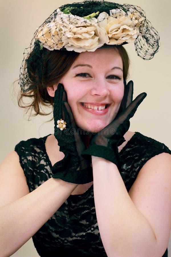 新Flirty古板的夫人 库存图片