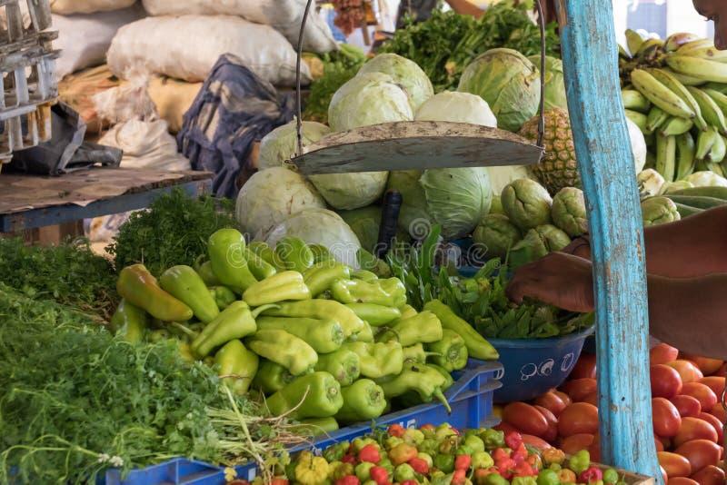 新vegtables待售在市场上 免版税图库摄影