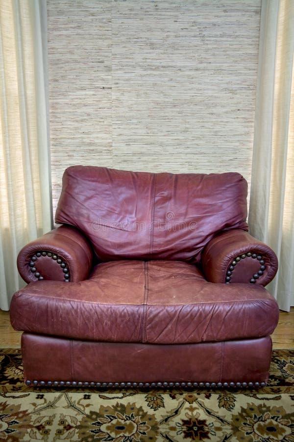 方便的长沙发皮革 免版税库存图片
