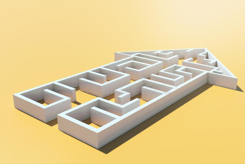 方向、挑战和道路概念 库存例证