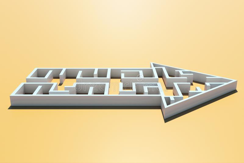 方向、挑战和风险概念 库存例证