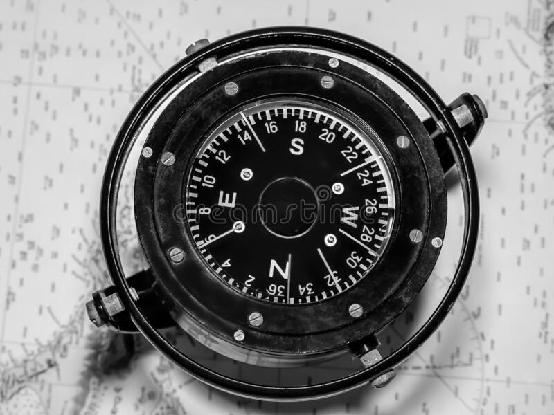 方向指南针 免版税图库摄影