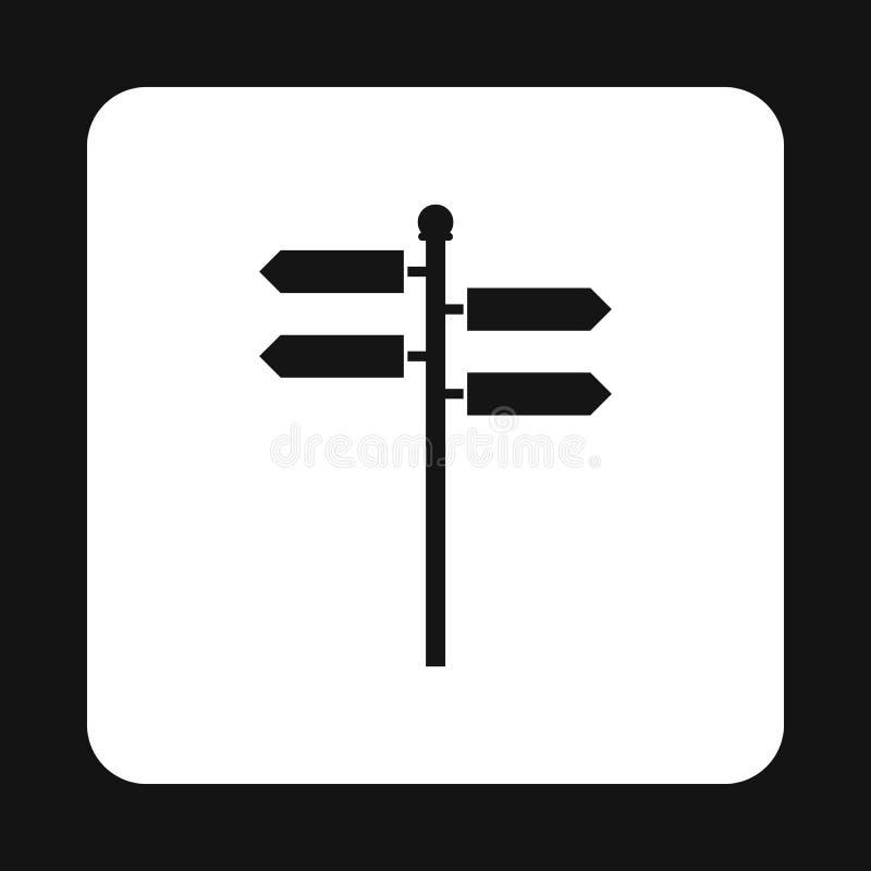 方向标象,简单的样式 皇族释放例证
