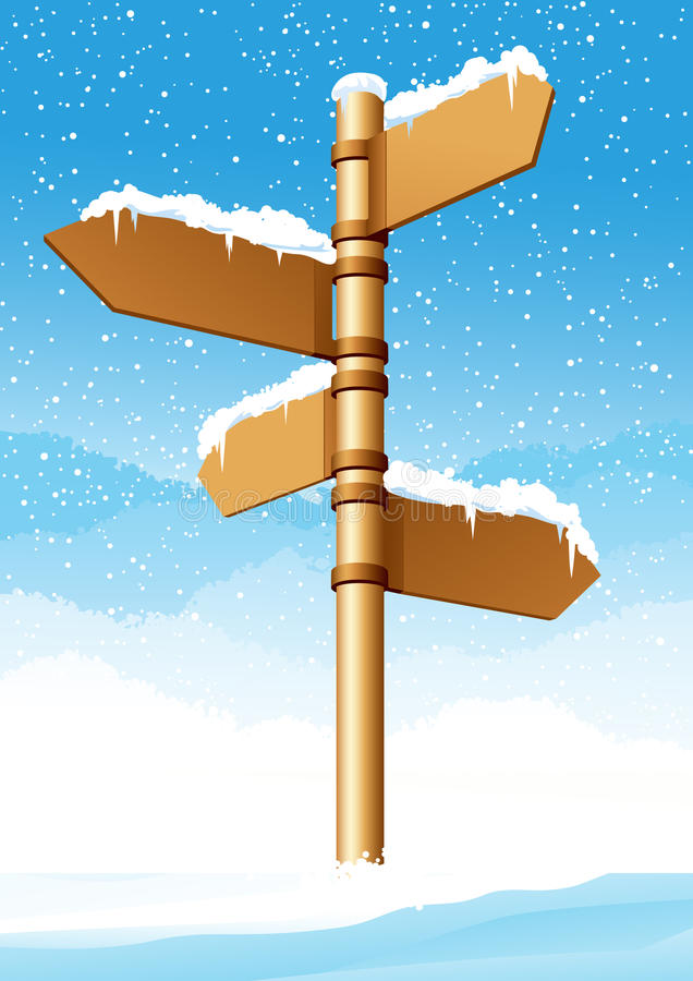 方向森林符号冬天 皇族释放例证