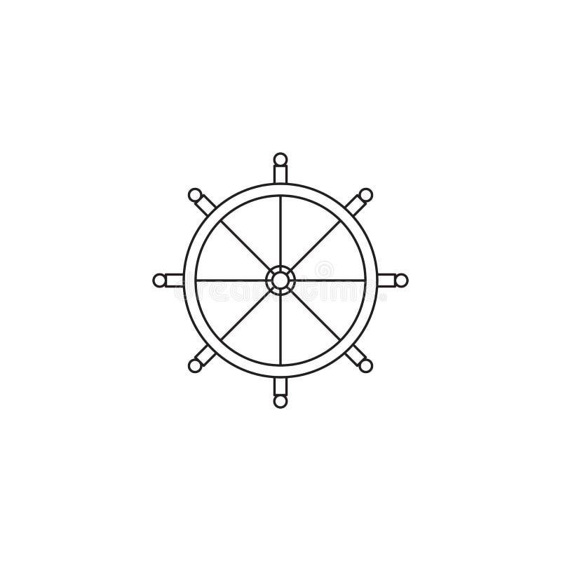 方向盘线象 向量例证