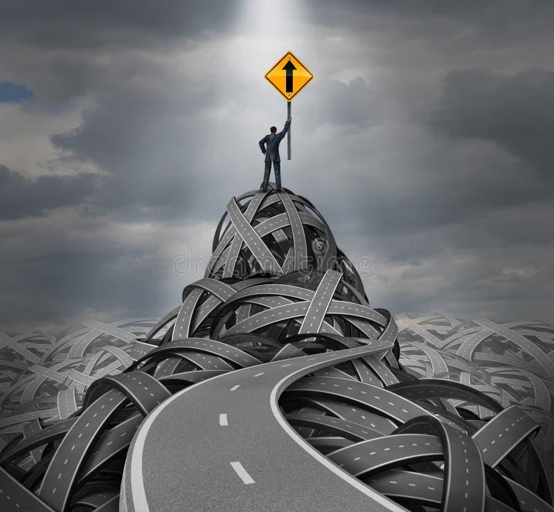 方向领导 向量例证