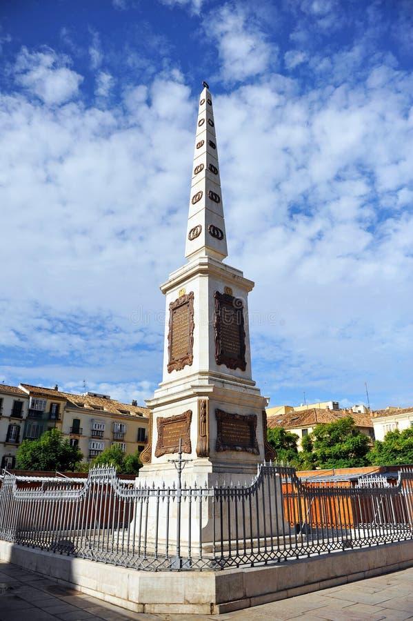 方尖碑,纪念碑致力了到托里乔斯,马拉加,西班牙 免版税图库摄影