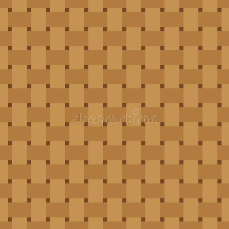 方平组织无缝的样式 重复纹理的柳条 把编成辫子的连续的背景o E 皇族释放例证