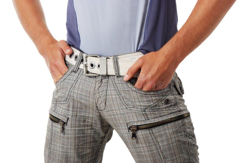 方式人裤子衬衣 免版税图库摄影