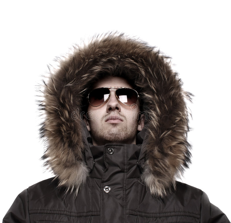 方式夹克人冬天 免版税图库摄影