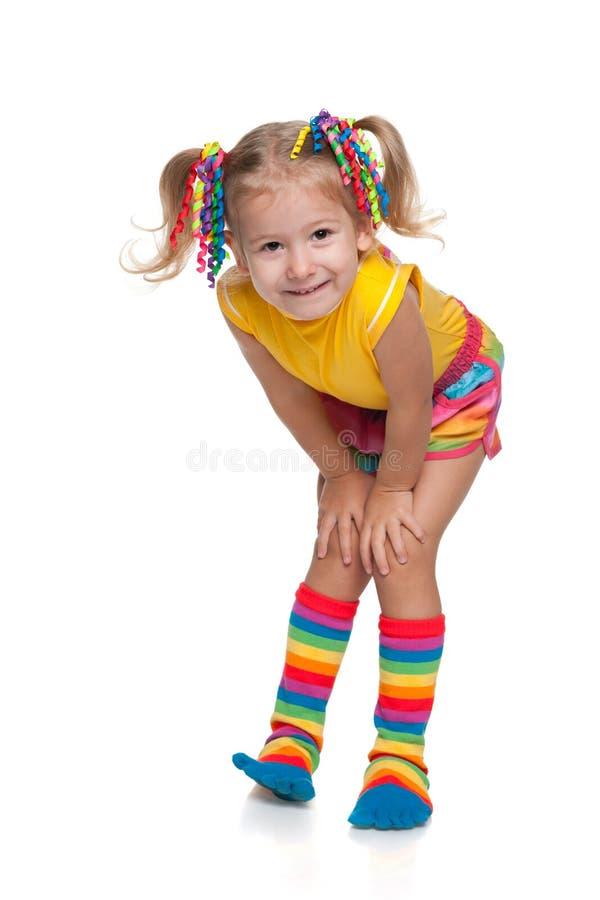 方式女孩微笑的一点 免版税库存照片