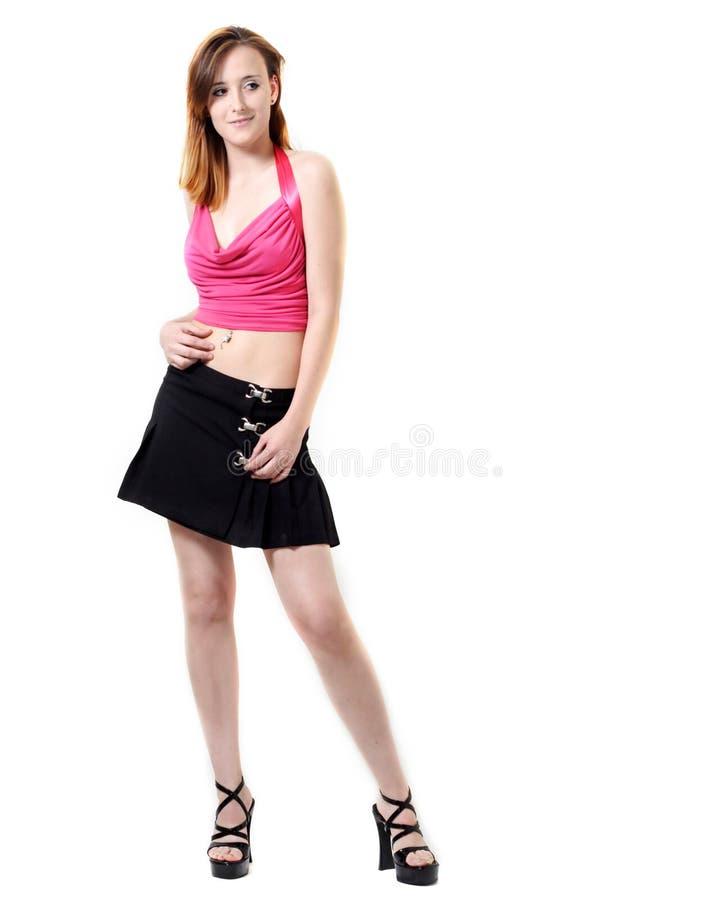 方式女孩现代年轻人 免版税库存图片