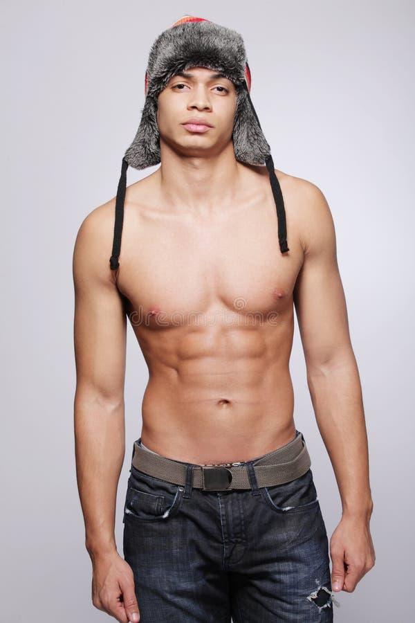 方式愉快的男性模型年轻人 图库摄影