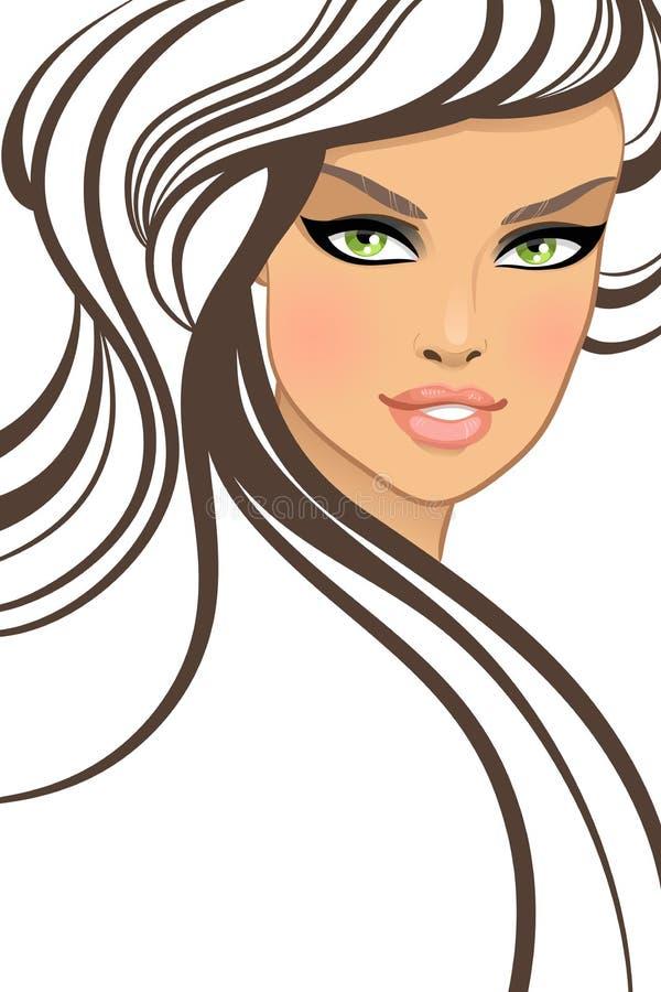 方式样式的美丽的女孩 库存例证