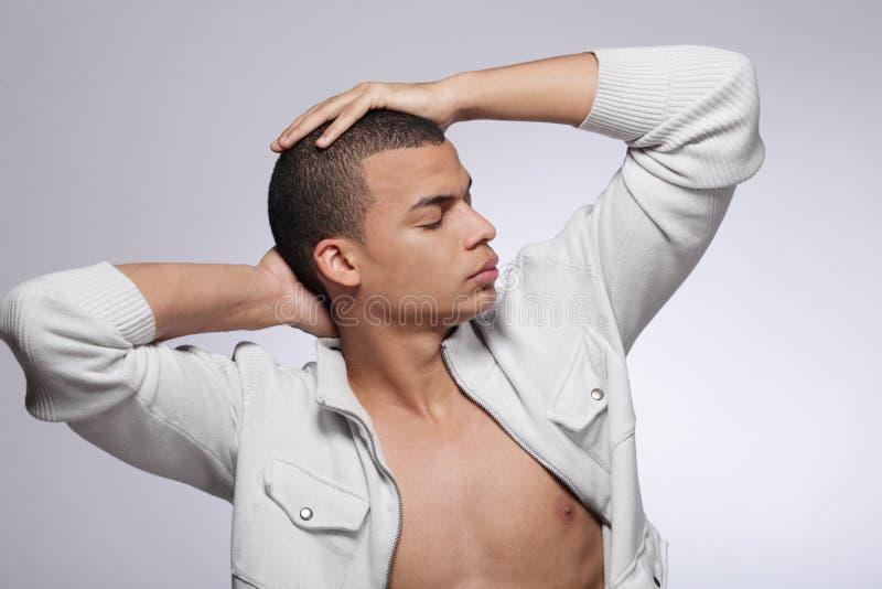 方式男性模型时髦的年轻人 免版税库存照片