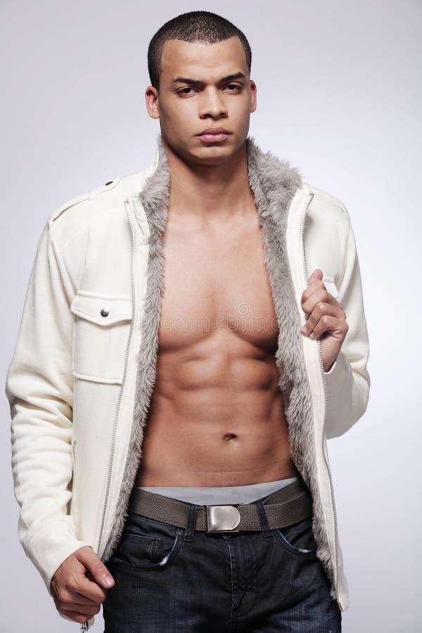方式男性模型时髦的年轻人 免版税库存图片