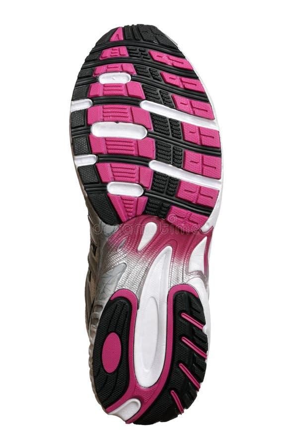 方式穿上鞋子唯一的体育运动 免版税库存照片