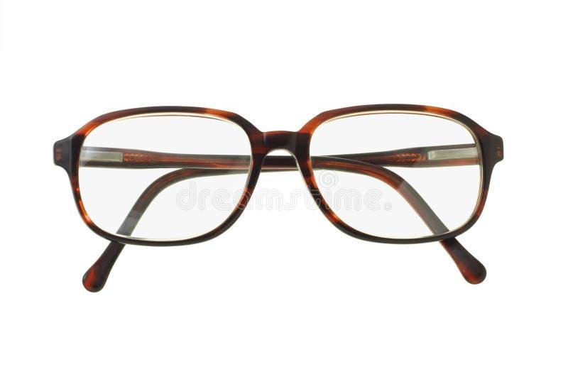 方式老塑料外缘眼镜 免版税库存照片