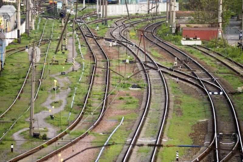 方式转接铁路 免版税图库摄影