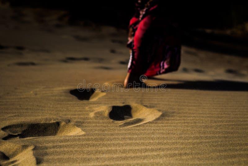 方式通过沙子 免版税库存照片