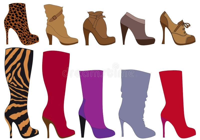 方式鞋子 向量例证