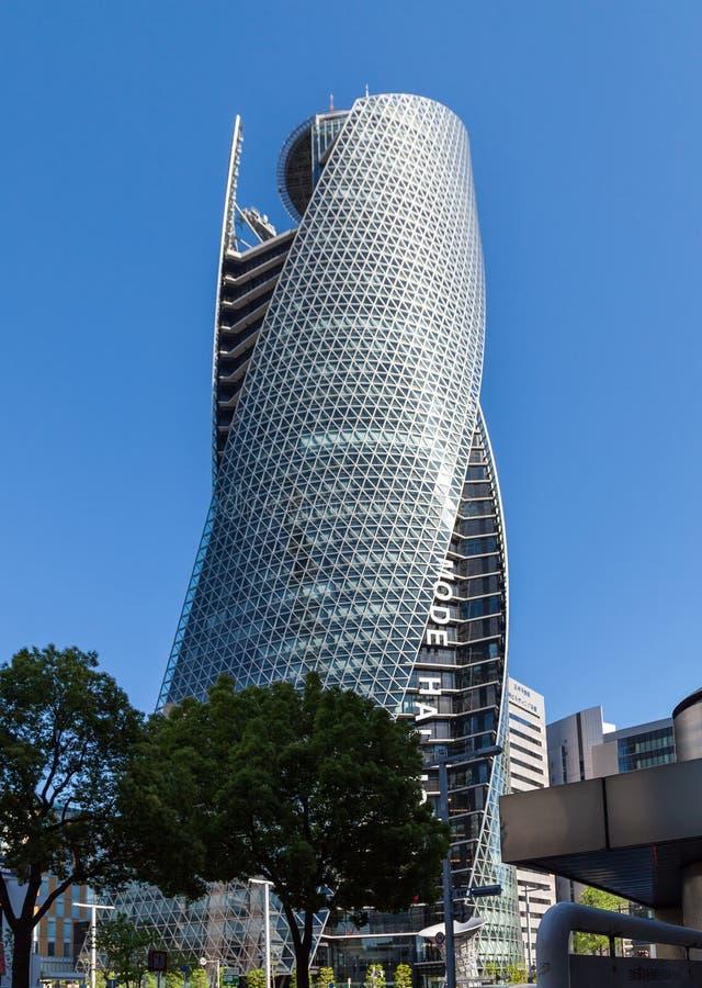 方式Gakuen修造在4月16,2016的名古屋的螺旋塔在 图库摄影