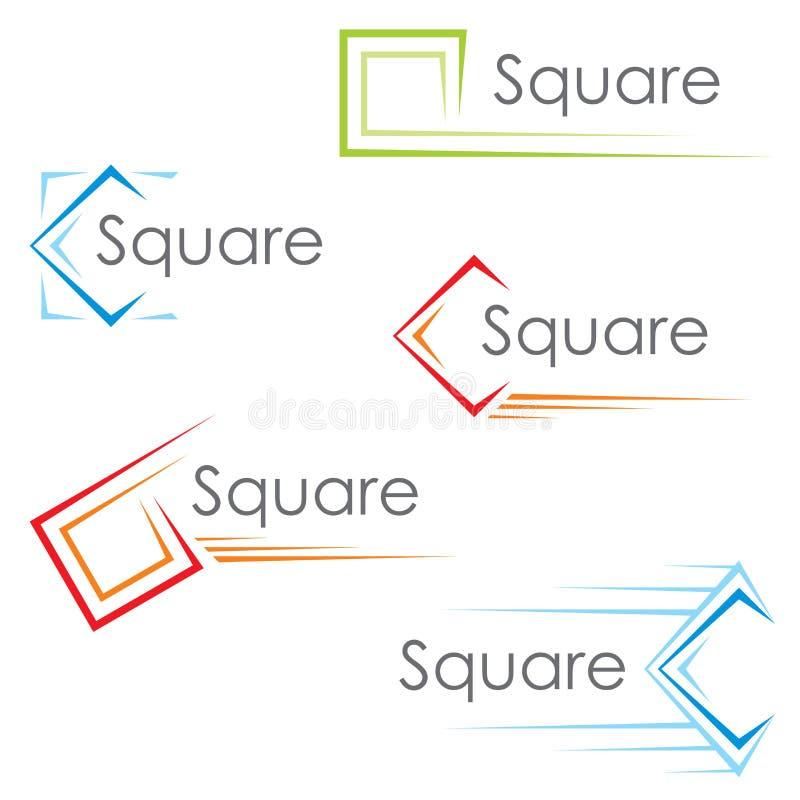 方形图标 库存例证