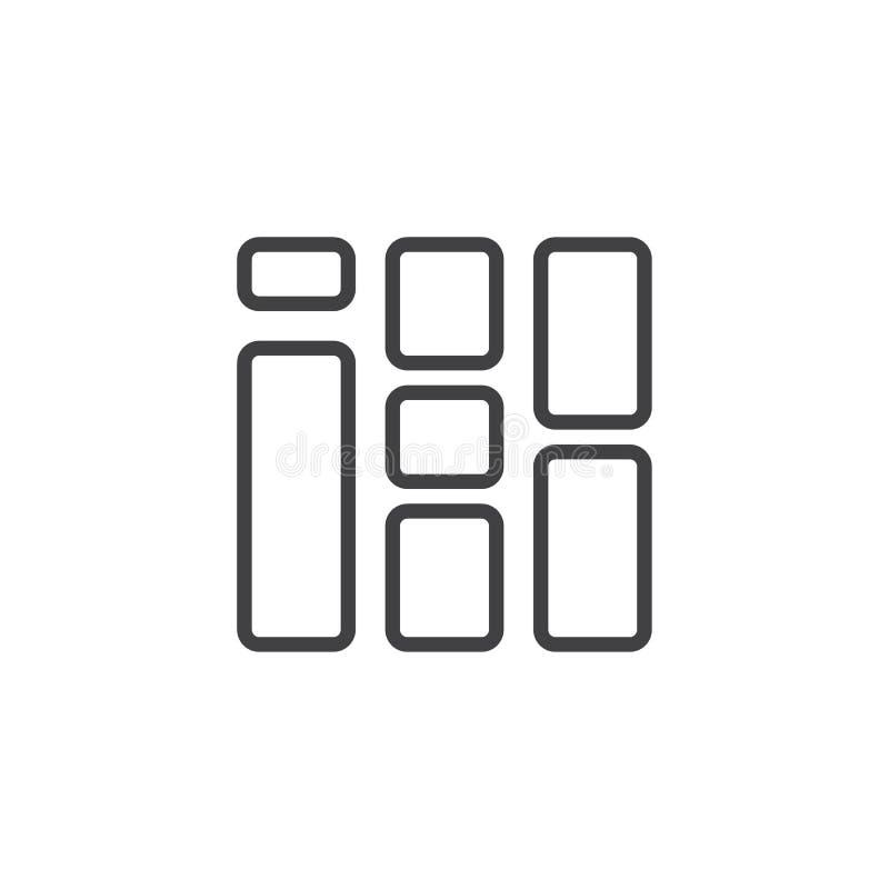 方形块概述象 库存例证