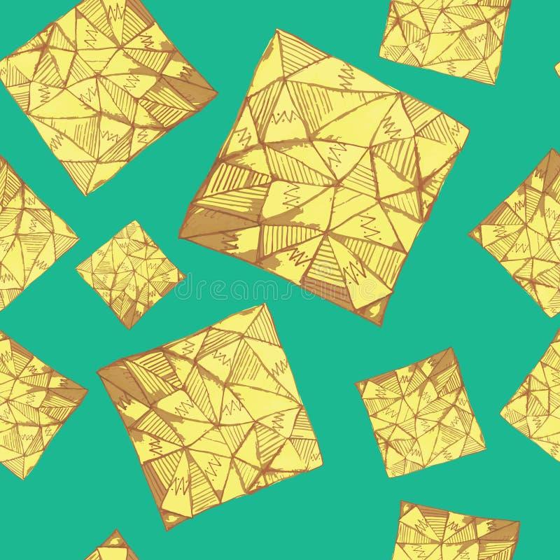 方形的三角样式 免版税图库摄影