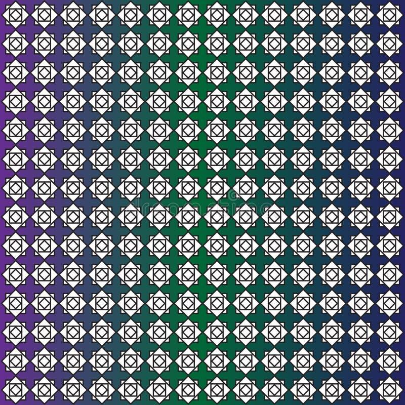 方形的传染媒介的无缝的样式 向量例证